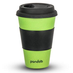 Bambus Kaffeebecher Coffee-To-Go, Trinkbecher, Bamboo Cup (Grün)  - pandoo