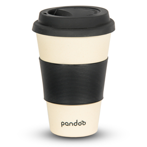 Bambus Kaffeebecher Coffee-To-Go, Trinkbecher, Bamboo Cup (Weiß) - pandoo
