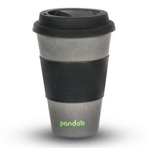 Bambus Kaffeebecher Coffee-To-Go, Trinkbecher, Bamboo Cup (Schwarz) - pandoo