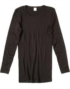 Langarm-Unterhemd, schwarz 4363 - Living Crafts