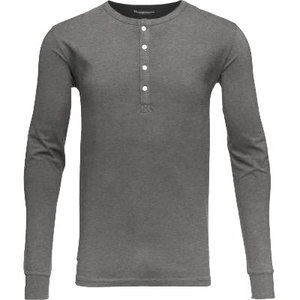 Henley - GOTS - Dark Grey Melange - KnowledgeCotton Apparel