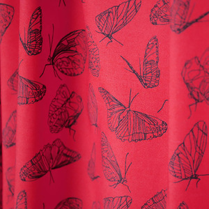 "Bio-Stoff ""Butterfly red"" 100% Biobaumwolle  - Biostoffe Berlin by Julie Cocon"