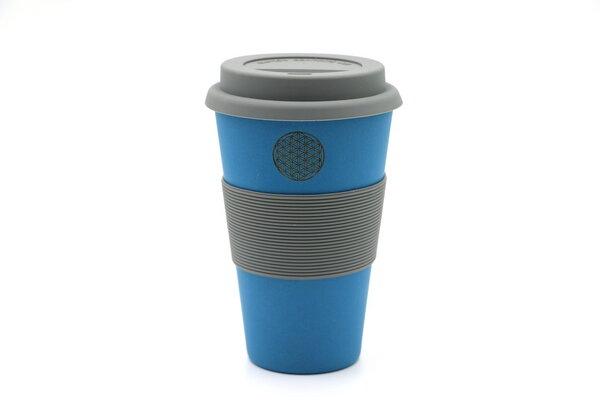 freakulized kaffeebecher to go flower of life mit bambus blau 100 bpa frei avocadostore. Black Bedroom Furniture Sets. Home Design Ideas