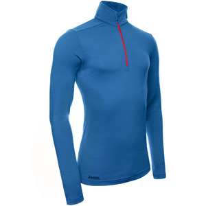 Merino Zip-Neck Slimfit 200 Herren - KAIPARA - Karibik - Kaipara - Merino Sportswear