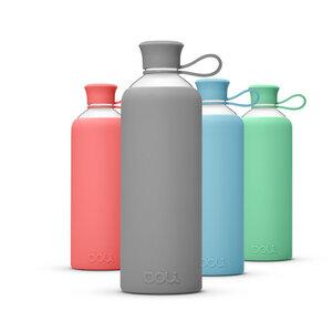 Trinkflasche aus Glas 550ml mit Silikonhülle - Doli