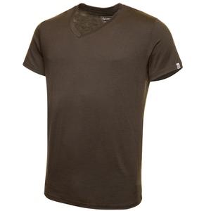 Merino Shirt Kurzarm Regularfit V-Neck 150 Herren - KAIPARA - Olive - Kaipara - Merino Sportswear