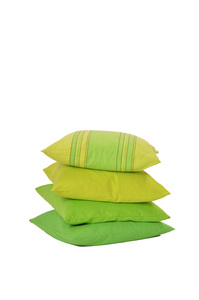 Kissenbezug lindgrün gestreift aus Bio-Baumwolle, GOTS zertifiziert - HängemattenGlück