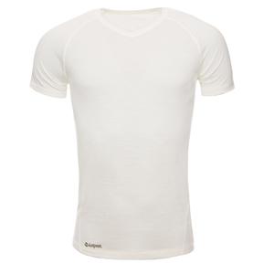 Merino Shirt Kurzarm Slimfit V-Neck 150 Herren - KAIPARA - Off-White - Kaipara - Merino Sportswear