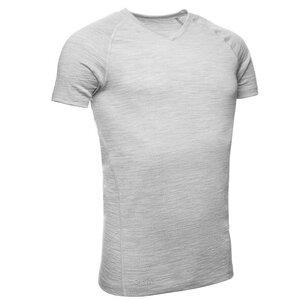 Merino Shirt Kurzarm Slimfit Raglan V-Neck 200 Herren KAIPARA Melange - Kaipara - Merino Sportswear
