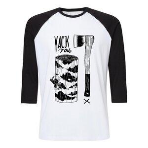 Yackfou Hackfou Unisex Baseball-T-Shirt White/Black Bio & Fair - Yackfou
