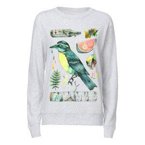 Yackfou Kolibri Damen Rundhals Sweatshirt heather ash Bio & Fair - Yackfou