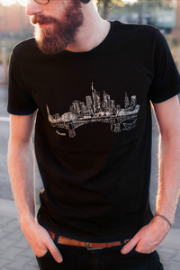 Frankfurt am Main Men T-Shirt Organic & Fair Wear _black  - ilovemixtapes