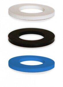 3er Pack Gummis für Soulbottles, blau weiß schwarz - soulbottles