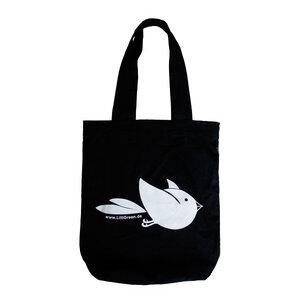 Stoffbeutel Vogel schwarz - nicegreenstuff