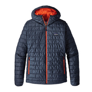 M's Nano Puff Hoody - Regular Fit - blue/red - Patagonia