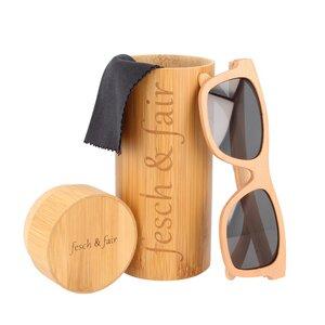 Sonnenbrille aus Buchenholz mit Etui - fesch & fair