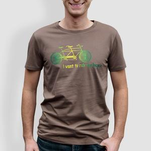 "Herren T-Shirt, ""Tandem"", Grau - Anthrazit - little kiwi"