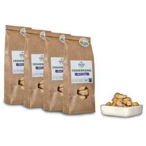 Bio-Fairtrade-Cashewkerne: Garlic & Pepper (4 x 70g) - Cashew for You