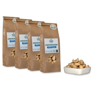 Bio-Fairtrade-Cashewkerne: Gebacken & Gesalzen (4 x 70g) - Cashew for You