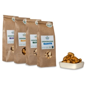 Bio-Fairtrade-Cashewkerne: Sortenbundle - Cashew for You