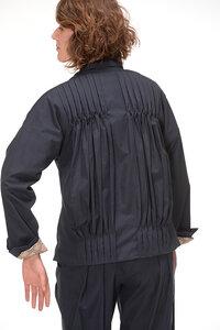 Jacke blau mit buntem Futter - Skrabak