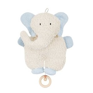 Efie Spieluhr Elefant hellblau, kbA (organic), Made in Germany - Efie