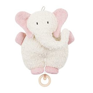 Efie Spieluhr Elefant rosa, kbA (organic), Made in Germany - Efie