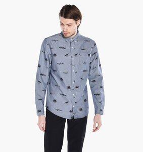 AO Shirt Seaside Blue Blue - DEDICATED