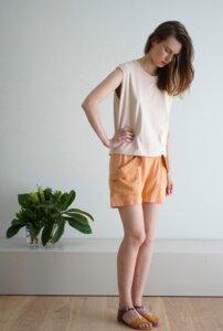 Lachsfarbene Shorts - LOTTIEhemp - cus barcelona