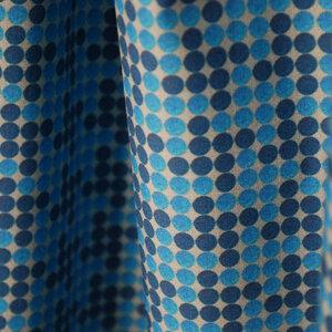 "Bio Stoff Punkte blau 100% Biobaumwolle ""Vichy Blue""  - Biostoffe Berlin by Julie Cocon"