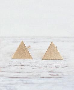 """pikfine vergoldete Ohrstecker """"Triangel"""" - pikfine"""