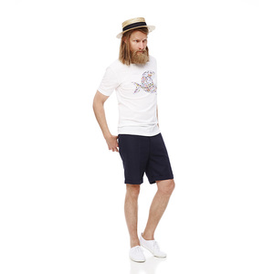 Chino Fit Shorts - Total Eclipse - COTTON & LEINEN - KnowledgeCotton Apparel