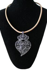 Kork Halskette mit Viana Herz - Corklane