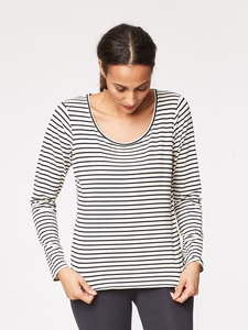 BASE LAYER TEE - Ivory Stripe - Thought | Braintree