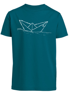 Kinder T-Shirt 'Paperboat' Biobaumwolle & Fair Wear  - ilovemixtapes