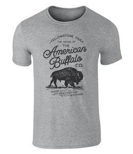 American Buffalo Co. Yellowstone Badge Icon Vintage-Style T Shirt - California Black Plate