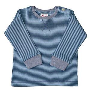 Langarmshirt blau/grau geringelt - People Wear Organic
