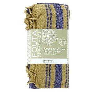 Fouta / Hammamtuch aus Biobaumwolle / Sand Collection - Karawan authentic