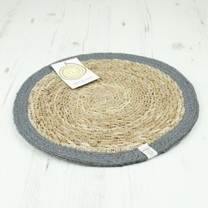 Runde Tischmatte aus Seegras und Jute Ø 28 cm - reSpiin