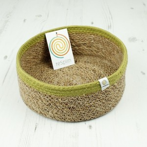 Veganer Aufbewahrungskorb medium aus Jute Ø 21 cm - reSpiin
