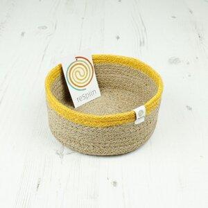 Veganer Aufbewahrungskorb klein aus Jute Ø 15 cm - reSpiin