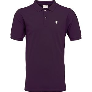 Pique Polo - Plum Perfect - OCS - KnowledgeCotton Apparel