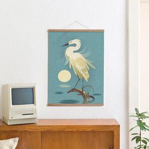 Set / Little Egret + Posterleiste Eiche 50 cm - Kleinwaren / von Laufenberg