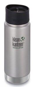 Trinkflasche Klean Kanteen Wide Vakuum isoliert 473ml mit Cafe Cap 2.0 - Klean Kanteen