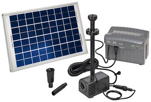 esotec Napoli LED-Solarpumpensystem / Springbrunnen - esotec