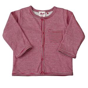 Wendejacke - rot grau geringelt - People Wear Organic