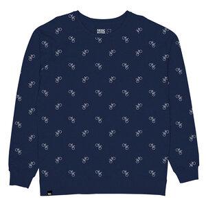 Bicycle Pattern Sweatshirt - DEDICATED