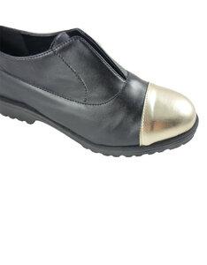 Ludo Shoes - Vegan Microfibre - Black&Platinum - BellaStoria Vegan