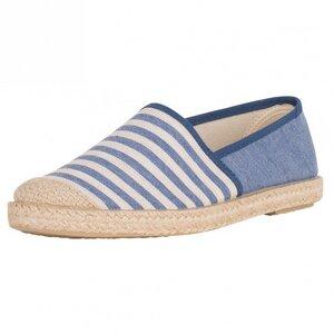 Evita Plain Blue Stripes - Grand Step