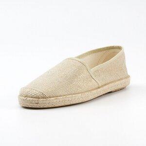 Evita Metallic Plain Taupe - Grand Step